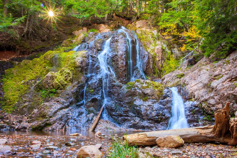 Wenthworth Falls with low water level royalty free stock photo