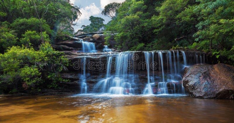 Wentworth cai, montanhas azuis da seção superior, Austrália imagem de stock
