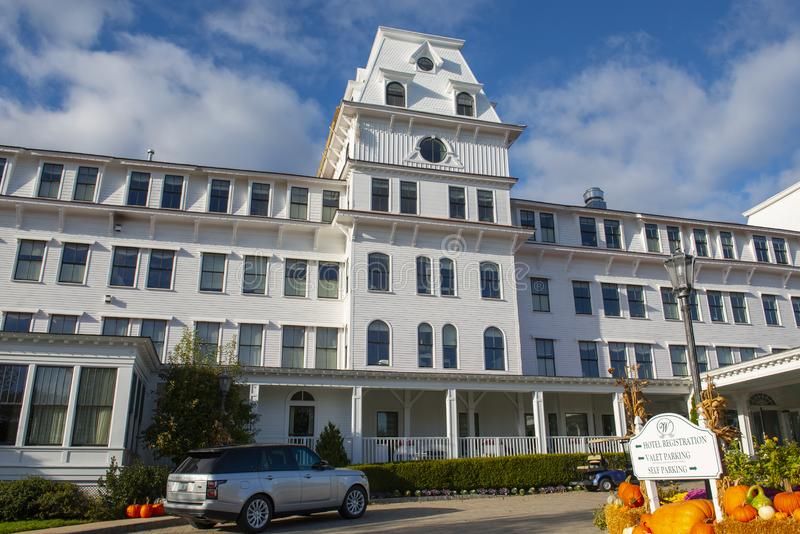 Wentworth by the Sea Hotel in New Castle in NH, USA. Wentworth by the Sea is a historic grand hotel dates back to Gilded Age in New Castle, New Hampshire, USA royalty free stock photos