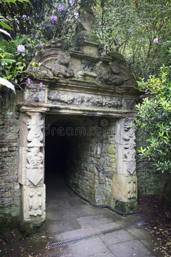 WENTWORTH, UK - June 1, 2018. Archway at Walled Gardens set within the grounds of Wentworth Woodhouse. Rotherham, South Yorkshire stock photos