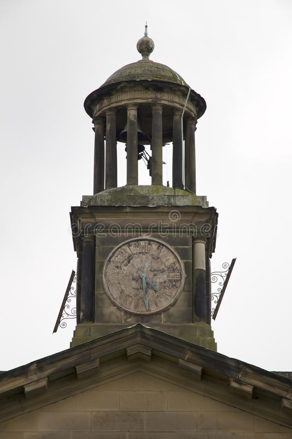 WENTWORTH, UK - June 1, 2018. Clock tower from Wentworth Woodhouse stately home, originally a Jacobean house later rebuilt. stock photography