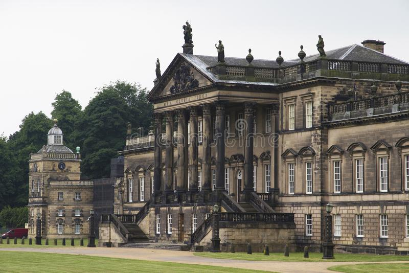WENTWORTH, UK - June 1, 2018. East front of Wentworth Woodhouse stately home, originally a Jacobean house later rebuilt. Rotherham stock photos