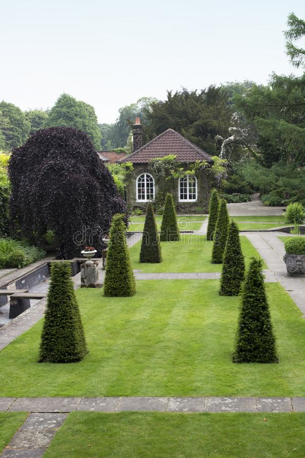 WENTWORTH, UK - June 1, 2018. Gardens set within the grounds of Wentworth Woodhouse. Rotherham, South Yorkshire, UK - June 1, 2018. Gardens set within the stock photos