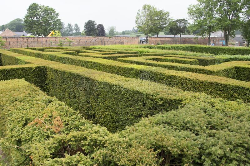 WENTWORTH, UK - June 1, 2018. Maze set within the grounds of Wentworth Woodhouse. Rotherham, South Yorkshire, UK - June 1, 2018. Maze set within the grounds of stock photo
