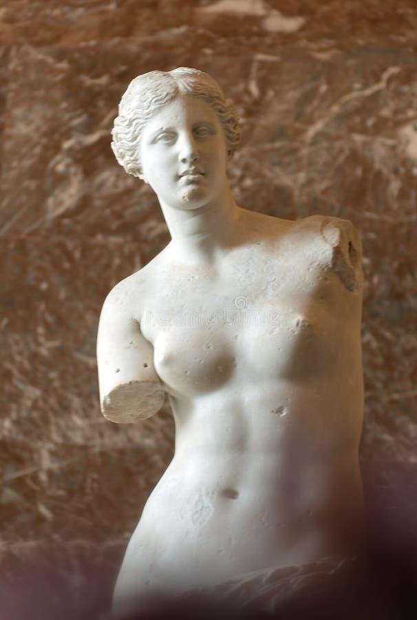Wenus De Milo przy louvre muzeum obraz stock