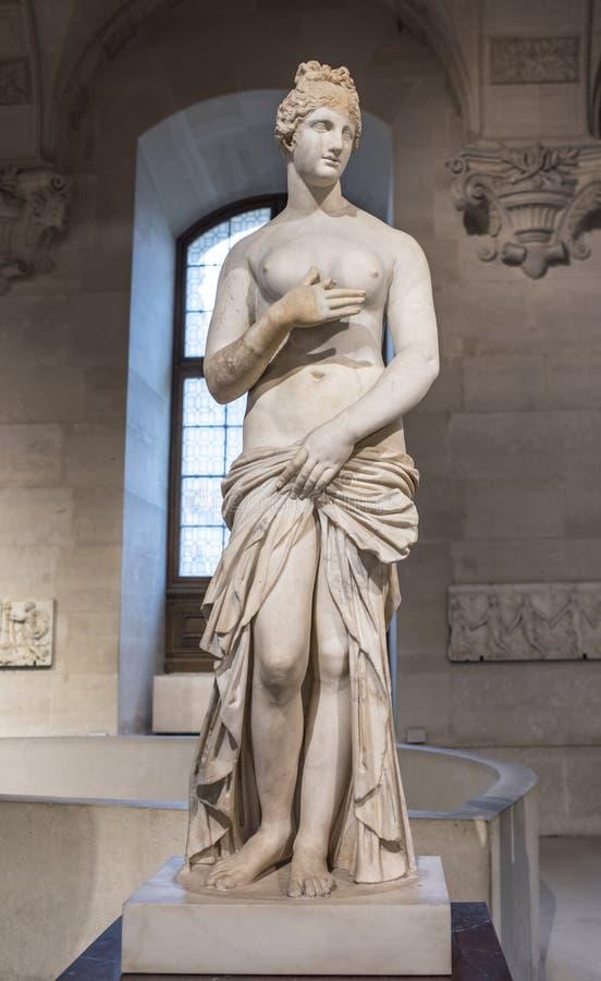 Wenus jest rzeźbą od Inkasowego Borghese Louvre fotografia royalty free