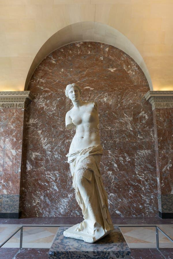 Wenus Milo statua w louvre muzeum zdjęcie stock