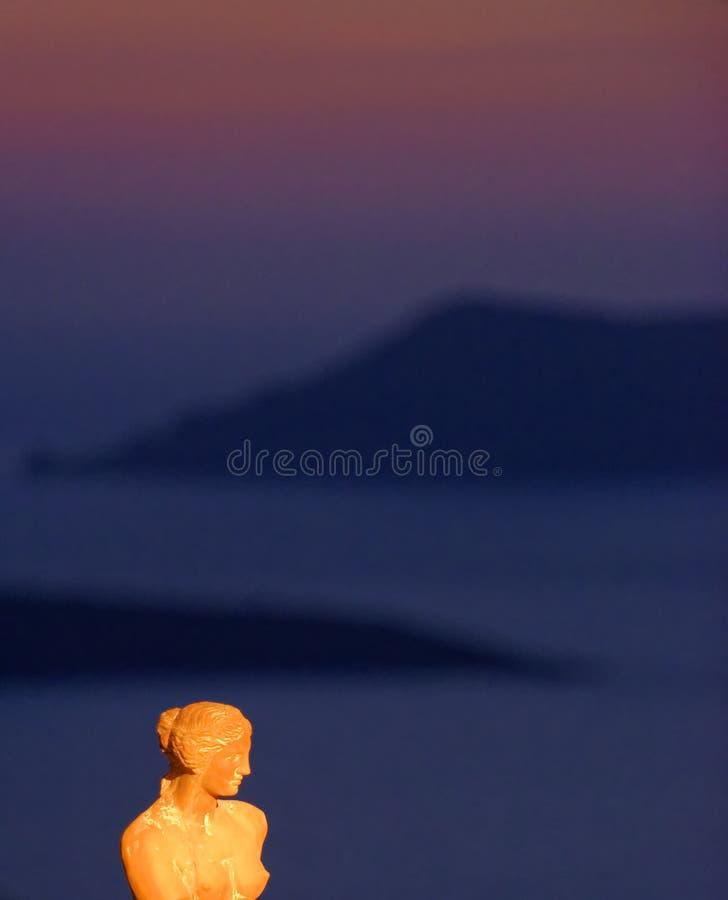 Wenus statua przy zmierzchem zdjęcia stock
