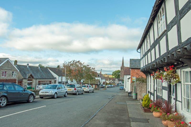 Weobley-Dorf in Herefordshire lizenzfreie stockfotografie