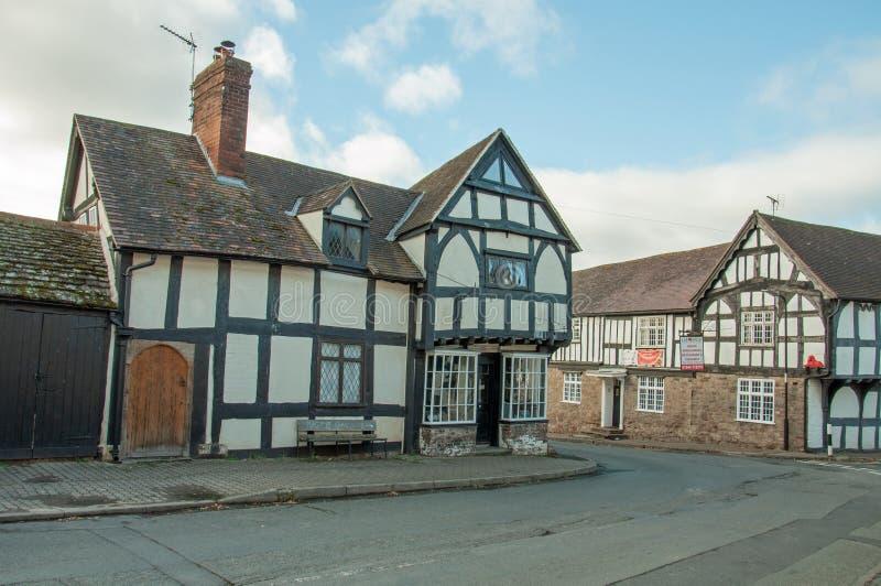 Weobley-Dorf in Herefordshire lizenzfreie stockbilder