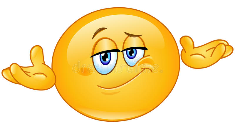 Wer Emoticon sich interessiert vektor abbildung