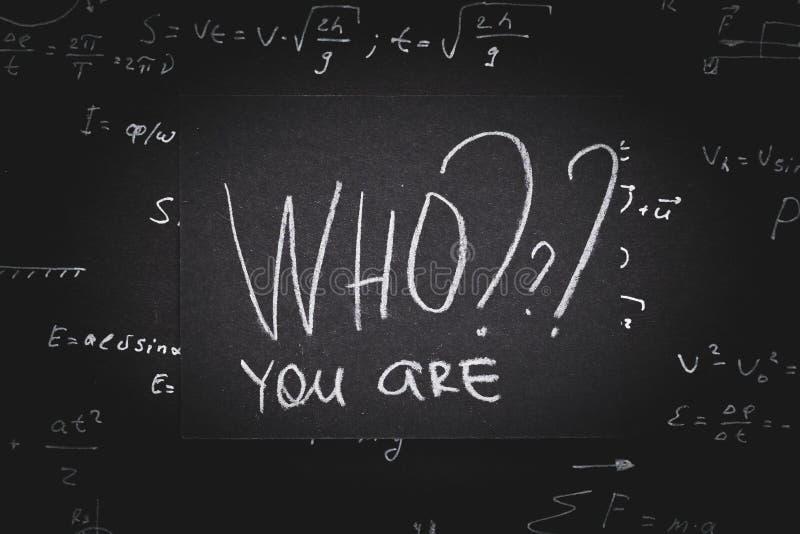 Wer Sie Selbstidentifizierungs-Selbstbeobachtungsanalyse stockfotografie