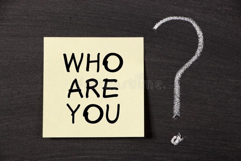 Wer sind Sie? lizenzfreies stockbild