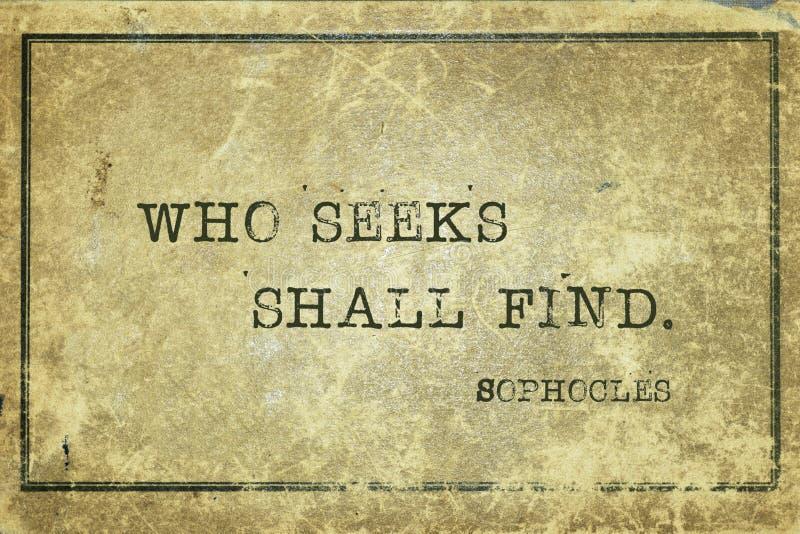Wer Sophocles sucht stock abbildung
