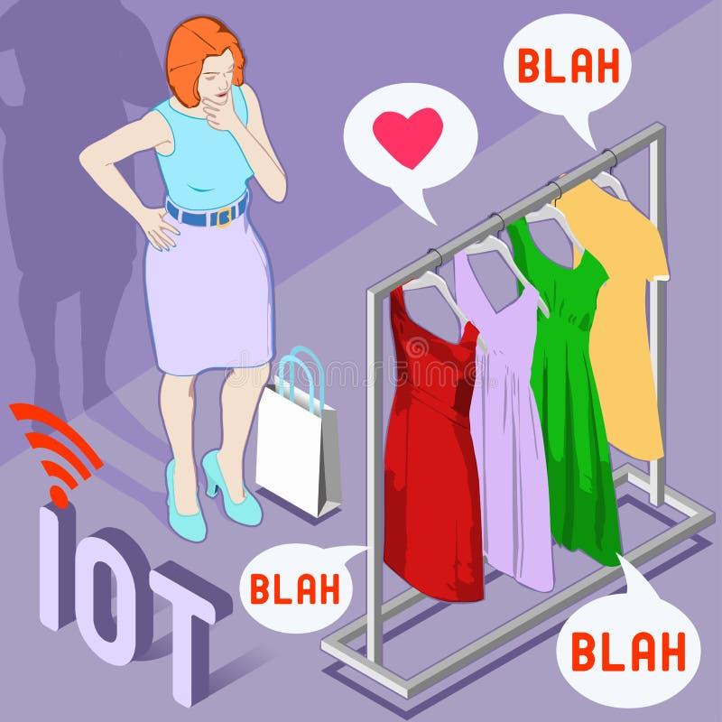 Werable modeIot märke stock illustrationer