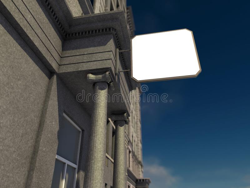 Werbebrett auf dem Haus vektor abbildung