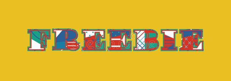 Werbegeschenk-Konzept-Wort Art Illustration lizenzfreie abbildung