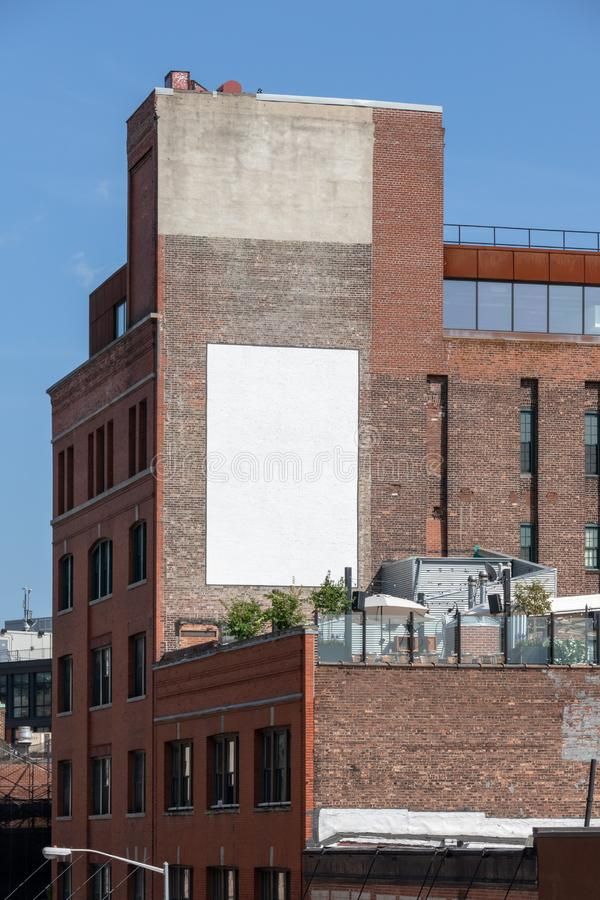 Werbung der Wand New York City lizenzfreie stockfotos