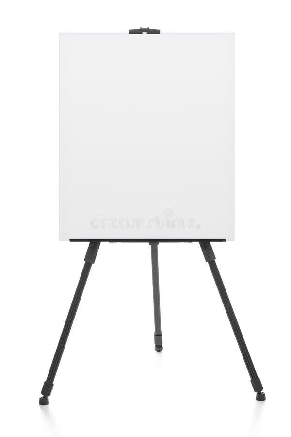 Werbung die Stand- oder Flip-Chart oder leeres Künstlergestell lokalisiert lizenzfreies stockfoto