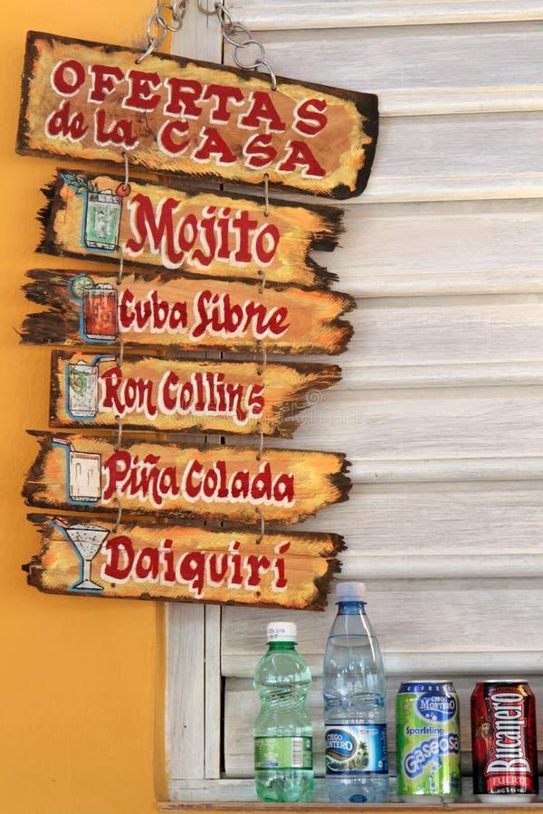 Werbung Für Kubanische Cocktails Andd Alkoholfreie Getränke ...