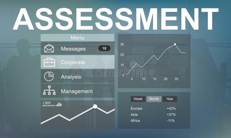 Werbungs-Analyse-Branding-Strategie-Konzept stock abbildung