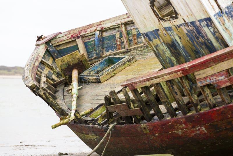 Werck drewna łódź fotografia royalty free