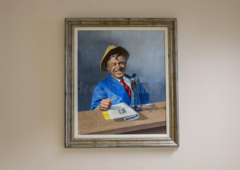 Werden Sie Rogers-Öl auf Segeltuchmalerei, Claremore, Oklahoma stockfotos