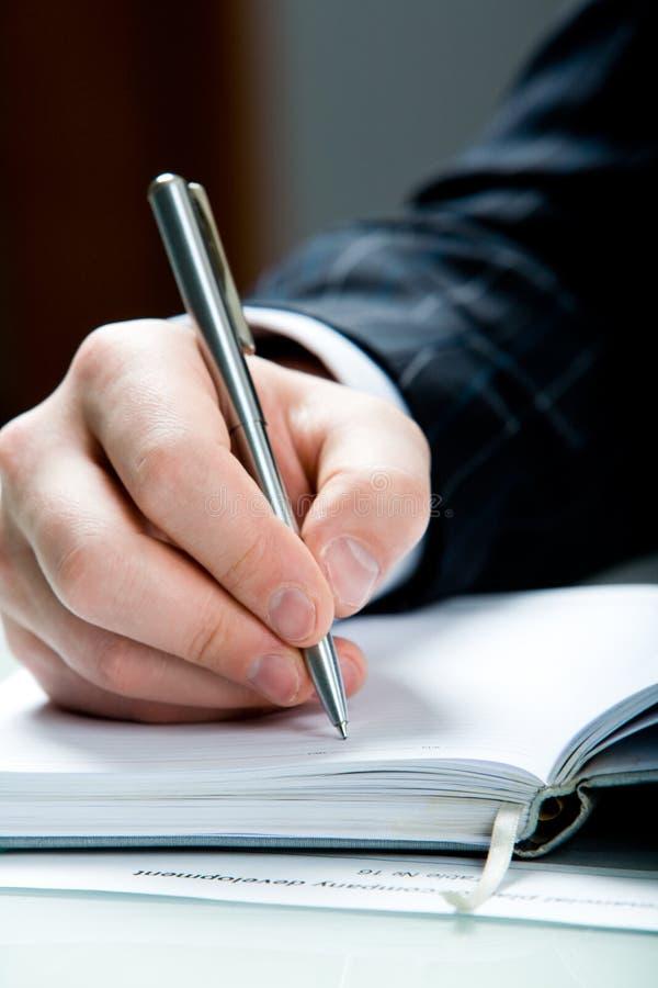 Werden Sie zum Schreiben fertig lizenzfreies stockfoto