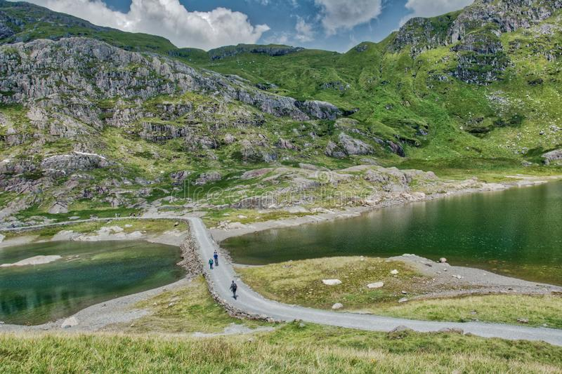 Snowdonia ans Mount Snowden. royalty free stock images