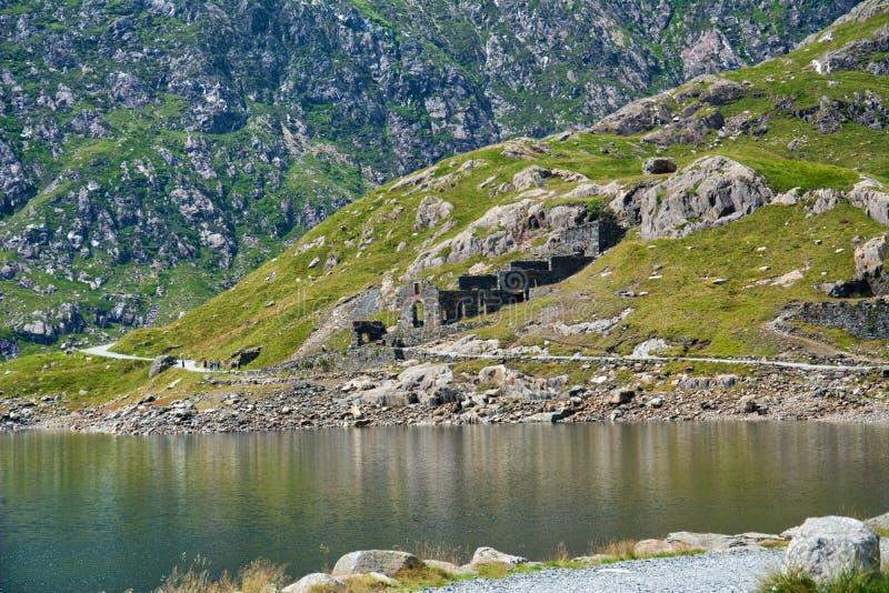 Snowdonia ans Mount Snowden. stock image