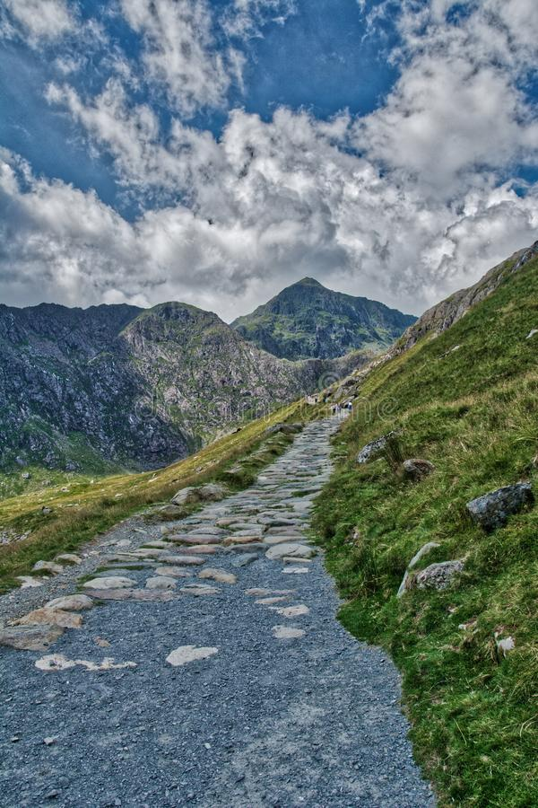 Snowdonia and Mount Snowden. stock photo