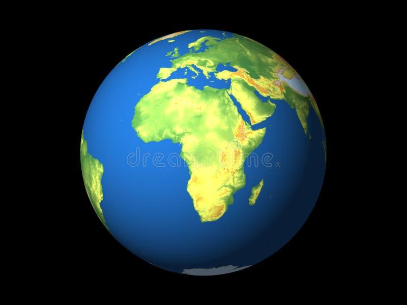 Wereld, Afrika vector illustratie