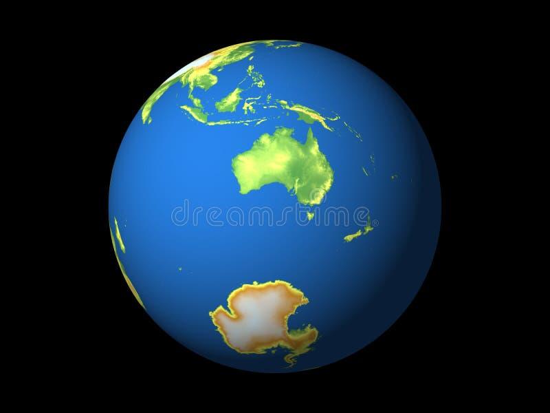 Wereld, Australië vector illustratie