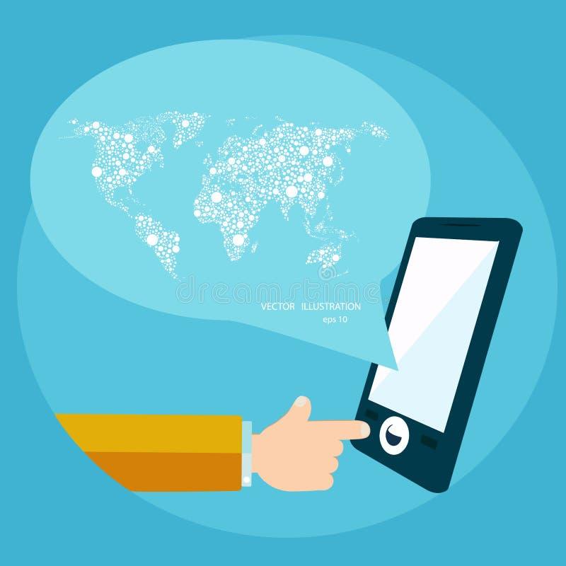 Wereld communicatie concept stock illustratie