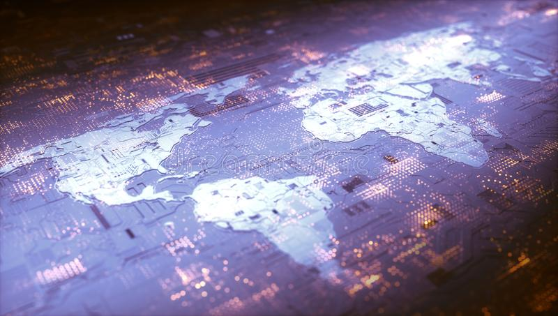 Wereld Digitaal Voorzien van een netwerk stock fotografie
