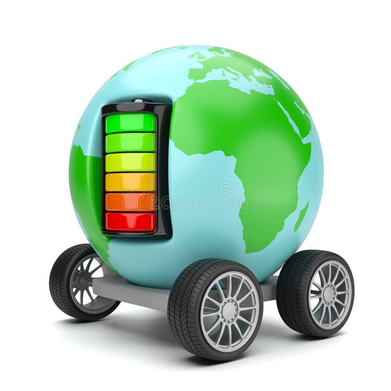 Wereld Elektrische Mobiliteit vector illustratie