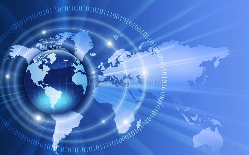 Wereld en gegevens royalty-vrije stock fotografie