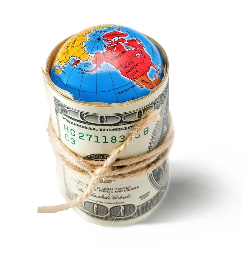 Wereld en geld royalty-vrije stock fotografie