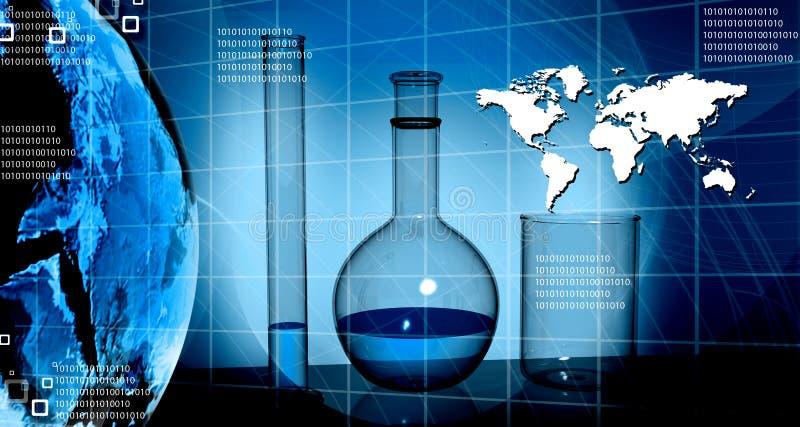 Wereld en wetenschap vector illustratie