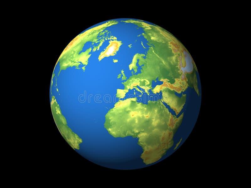 Wereld, Europa stock illustratie