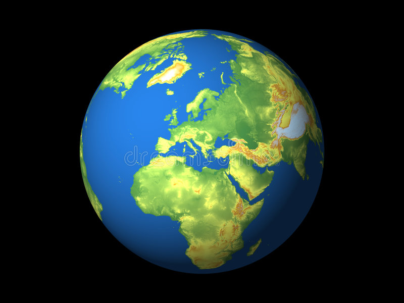 Wereld, Europa vector illustratie