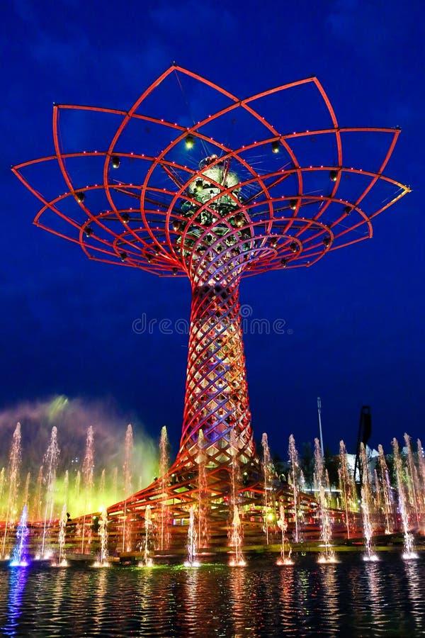 Wereld Expo Milaan stock afbeeldingen