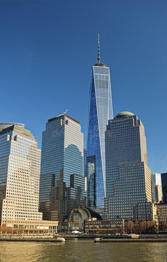Wereld Financieel Centrum, de Stad van New York stock afbeeldingen