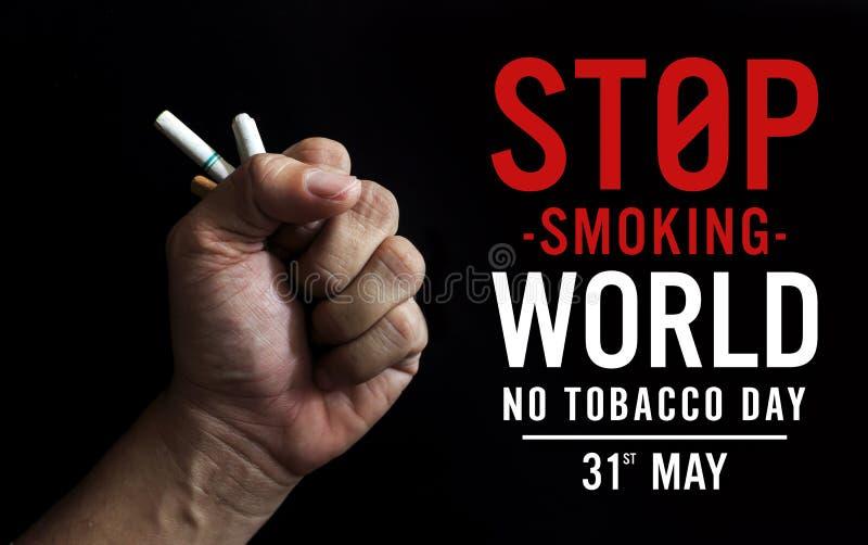 Wereld Geen concept van de Tabaksdag royalty-vrije stock foto