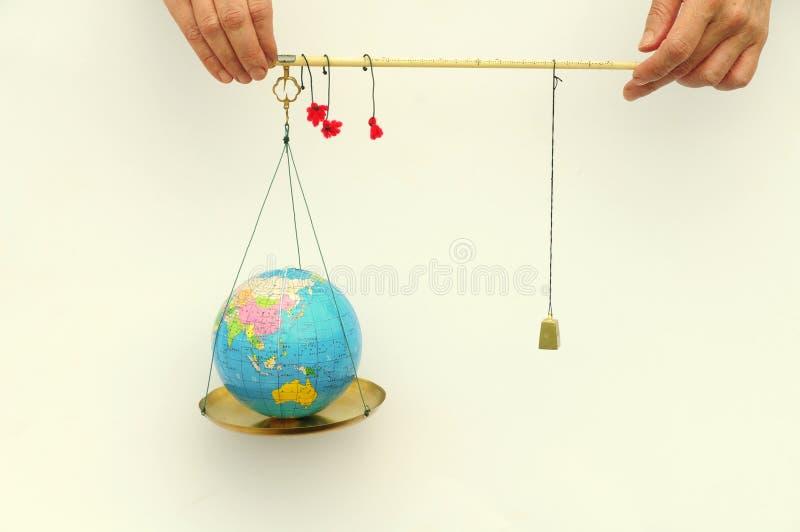 Wereld in het saldo royalty-vrije stock afbeeldingen