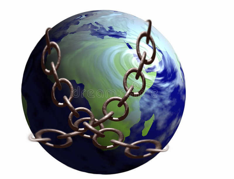 Wereld in Kettingen vector illustratie