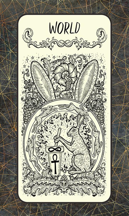 wereld Major Arcana Tarot Card vector illustratie