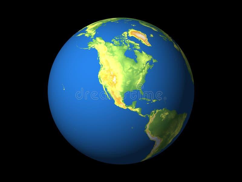 Wereld, Noord-Amerika stock illustratie