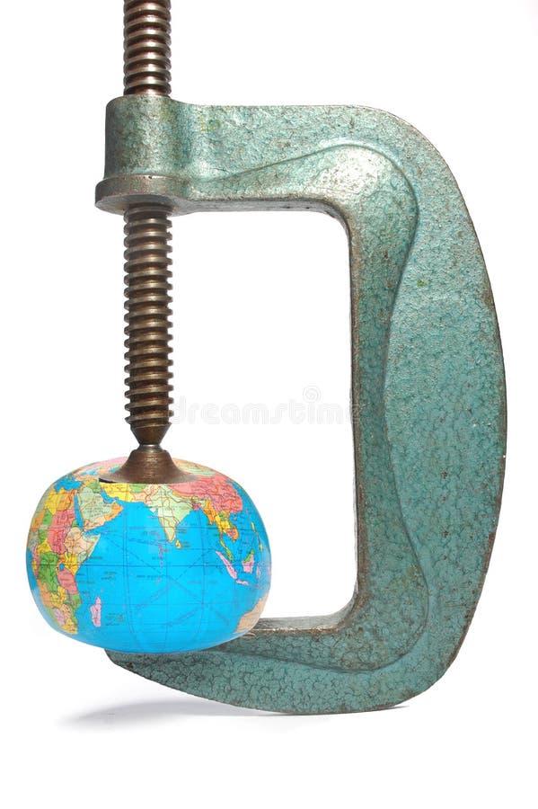 Wereld onder druk stock fotografie