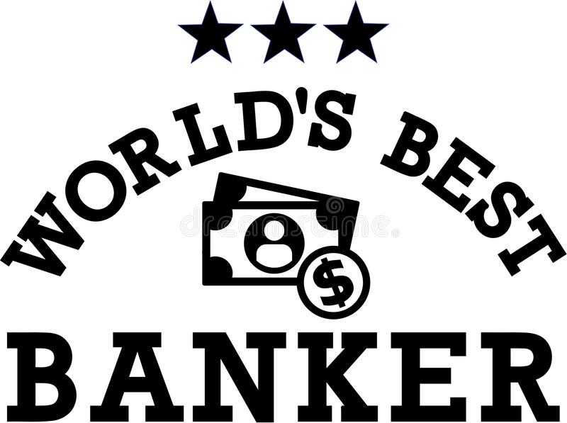 Wereld` s Beste Bankier Money royalty-vrije illustratie